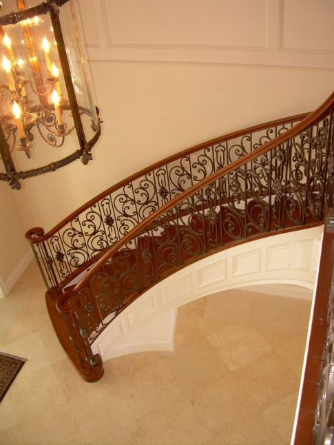 Curved Iron Scroll Staircase 14